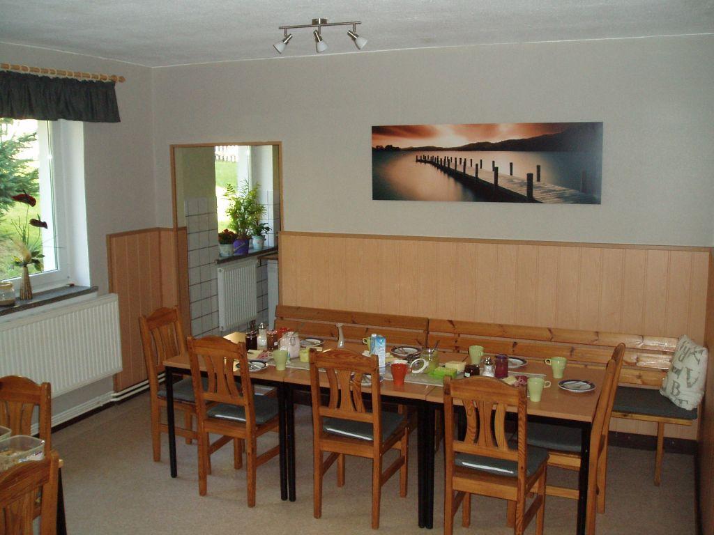 Herberge Bahra - Frühstücksraum
